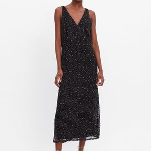 Zara mesh trim dress